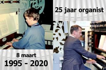 Bastiaan van der Pijl 25 jaar organist