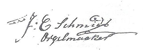 Handtekening Jan Christoffel Schmidt