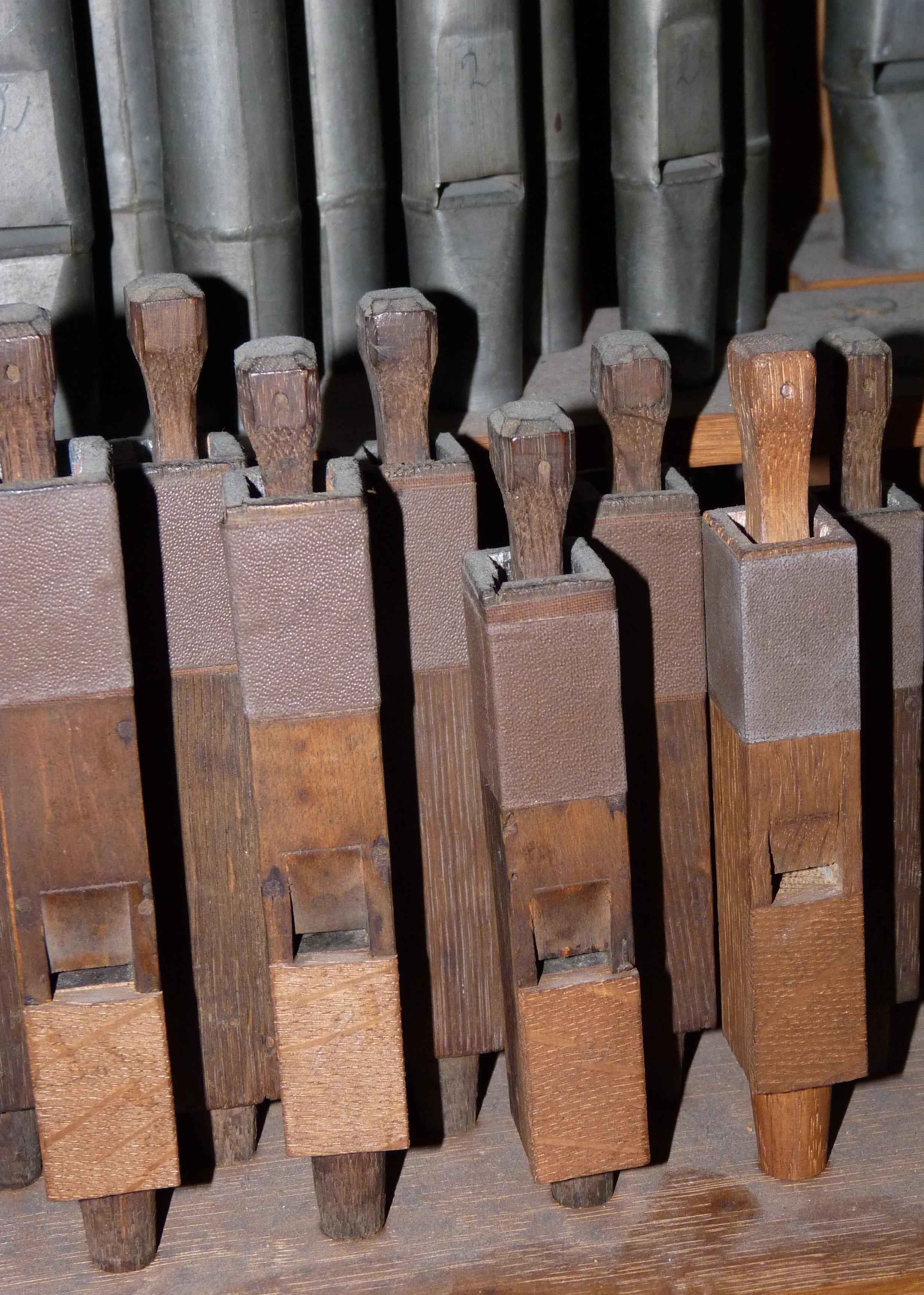 Deel Schmidt-orgelpijpen (1813)