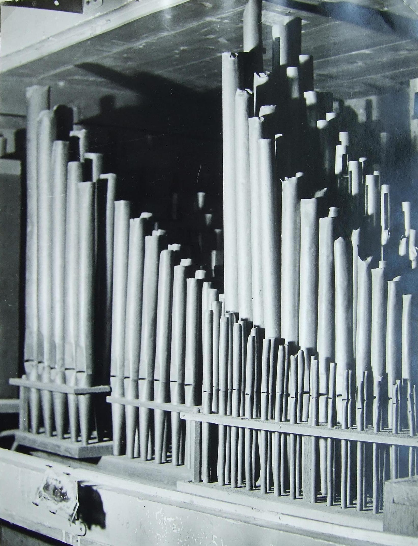 Opstelling orgelpijpen vanaf 1924