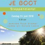 Zondag 24 juni 2018; Stappendienst