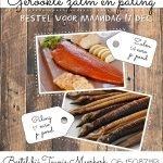 Gerookte zalm en gerookte paling