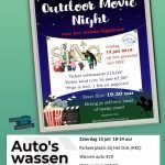Outdoor Movie Night & Auto's wassen
