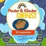 Zondag 22 september Peuter & Kleuter dienst